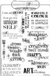 Chocolate Baroque Artistic Affirmations Rubber Stamp